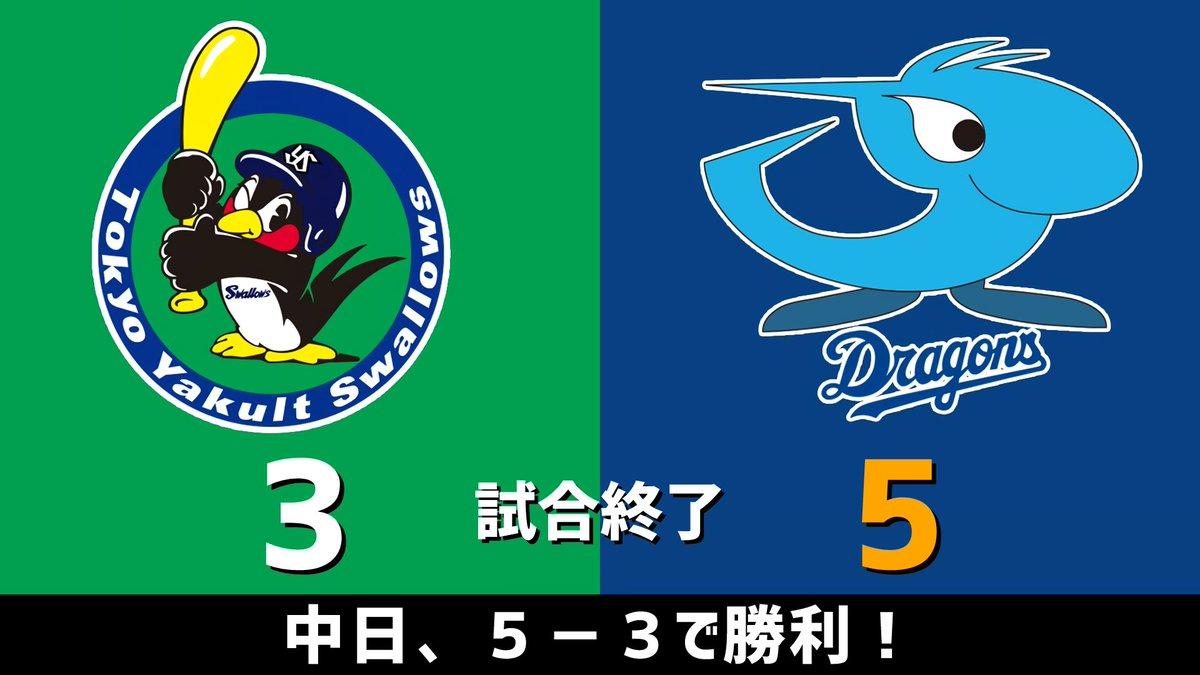 カッタガネー中日ドラゴンズ、5-3で勝利です!!!【全得点】⇒