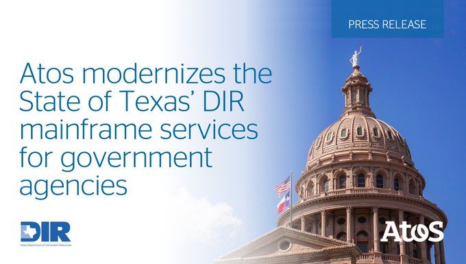 Atos announced it will transform @TexasDIR's mainframe technology to enable a modern, secure M...