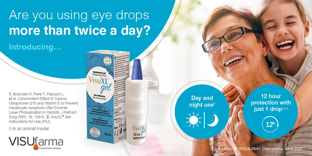 Are you currently using more than 2 eye drops per day? Why not try VisuXL® Gel, transforming the treatment of dry eye, providing 12 hour protection with just 1 drop. #eyecare #dryeye #VISUfarma #VISUfarmaUK #2drops  #eyedrops #opthalmology #eyehealth #VisuXLGel #eyes #dryeyes