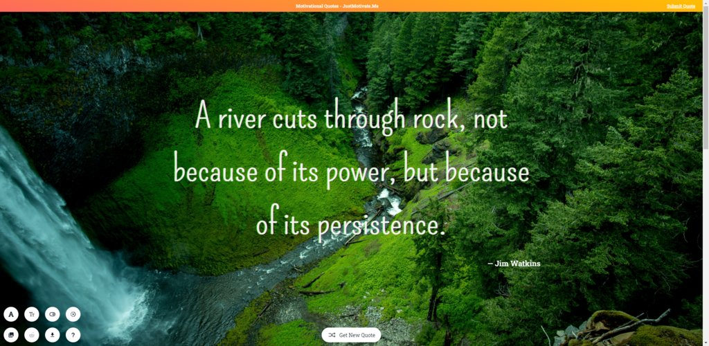 A river cuts through rock, not because of its power, but because of its persistence. — Jim Watkins [1920x937]  #Quotes