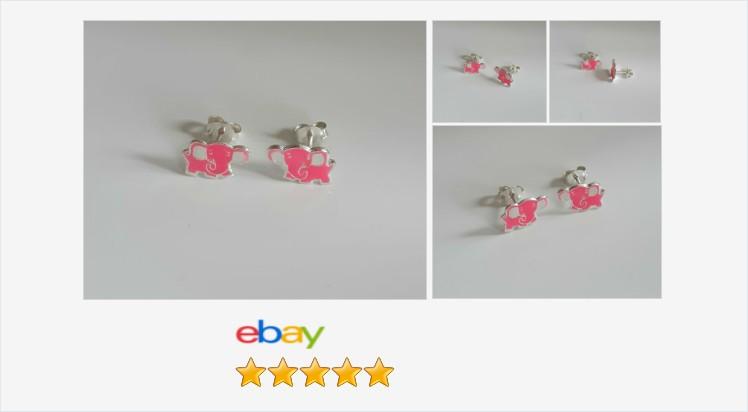 Brand New 925 Sterling Silver Pink Enamelled Elephant Stud Earrings - Boxed | eBay #sterlingsilver #pink #enamelled #elephant #childrens #stud #earrings #gifts #giftideas #giftsforher #cute #jewelry #jewelrylover #finejewelry #giftshop #uksmallbiz