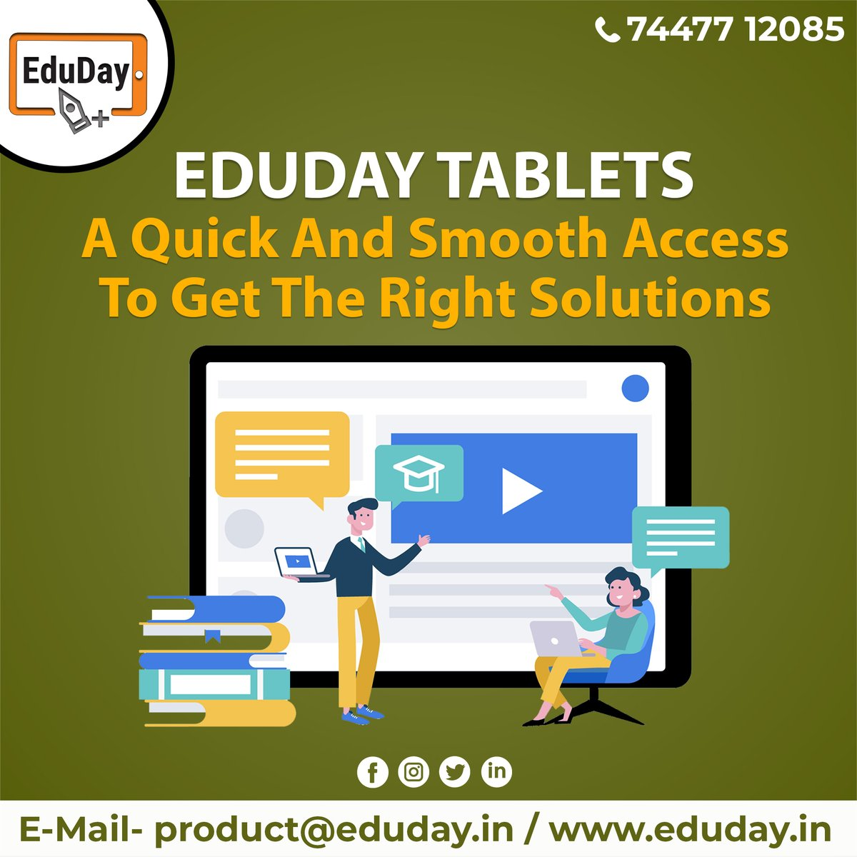 Transform Teaching, Inspire Learning and Deliver a world-class Student Experience.  Get in touch to know more:- Phone : +91 7447712085 E-Mail: product@eduday.in visit:- http://www.eduday.in  #eduday #edudayindia #pune #india #tab #tablets #CoachingInstitute #Coachingclassesspic.twitter.com/QVDvQdq65f
