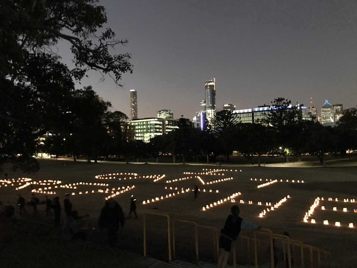 "The words 'I Can't Breathe"" are spelled out by 433 candles by First Nation campaigners in Brisbane's Musgrave Park. The candles symbolise the 432 indigenous Australians who have died in custody since the 1991 Deaths in Custody report and one for George Floyd, killed  in the US. pic.twitter.com/Cg5Pz2zxoH"