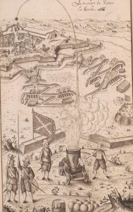 En uno de los grabados de época, hemos encontrado el uso de un mortero que serviría a los Tercios para el asedio de las plazas, actividad incesante especialmente en Flandes. Fijaos en los protagonistas, en la bandera, en las armas... nos transmite información por todas partes https://t.co/9quZRWgX4K