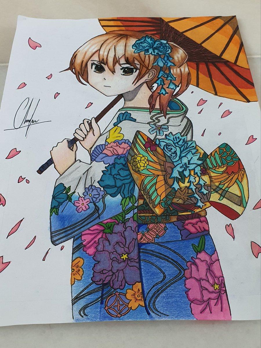 """Culture grow on the vine of tradition"" -いつか日本に行きたい- #kimono #myart #illustrationpic.twitter.com/clGOuBovSy"