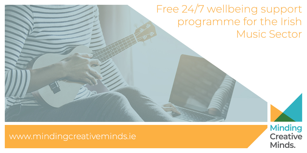 We're delighted to announce the launch of Minding Creative Minds (MCM), Irelands first dedicated 24/7 wellbeing support programme for the Music Sector.   If you or someone you know within the sector needs support, advice or a listening ear - visit  http://www. mindingcreativeminds.ie     today<br>http://pic.twitter.com/RkoWgEcbqQ
