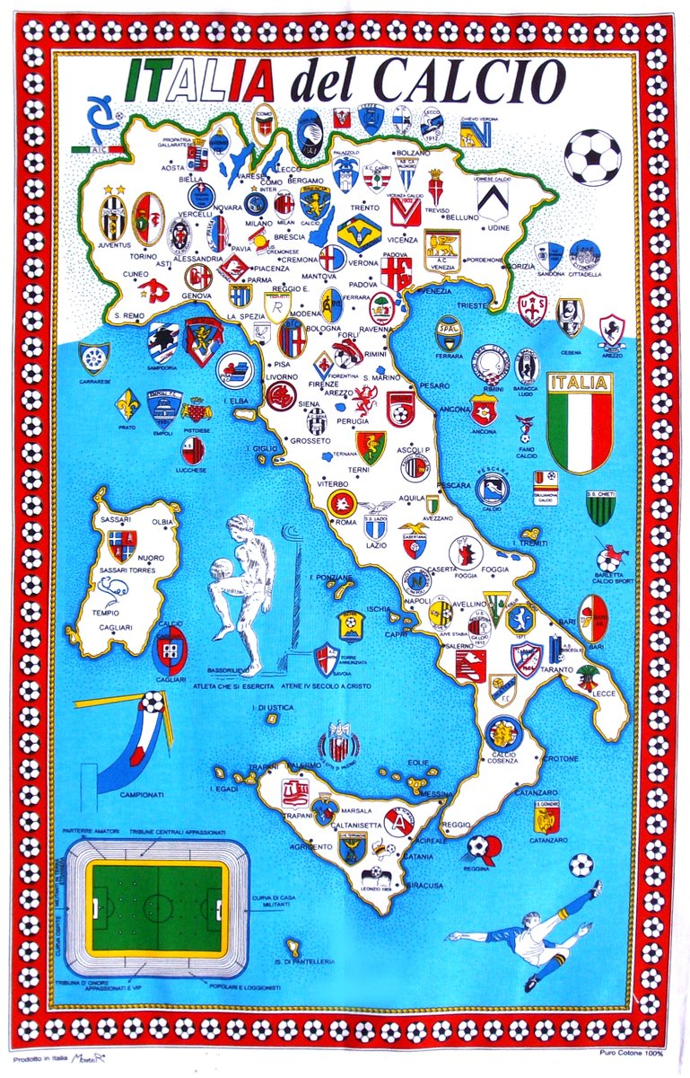 We have a full restock of our Calcio tea towels landing in the shop on Thursday.  These flew off the shelves last time, so if you want one, be in line at 7PM.  Made in Italy by Claudio with a vintage illustration. <br>http://pic.twitter.com/yXUOqJEFG4