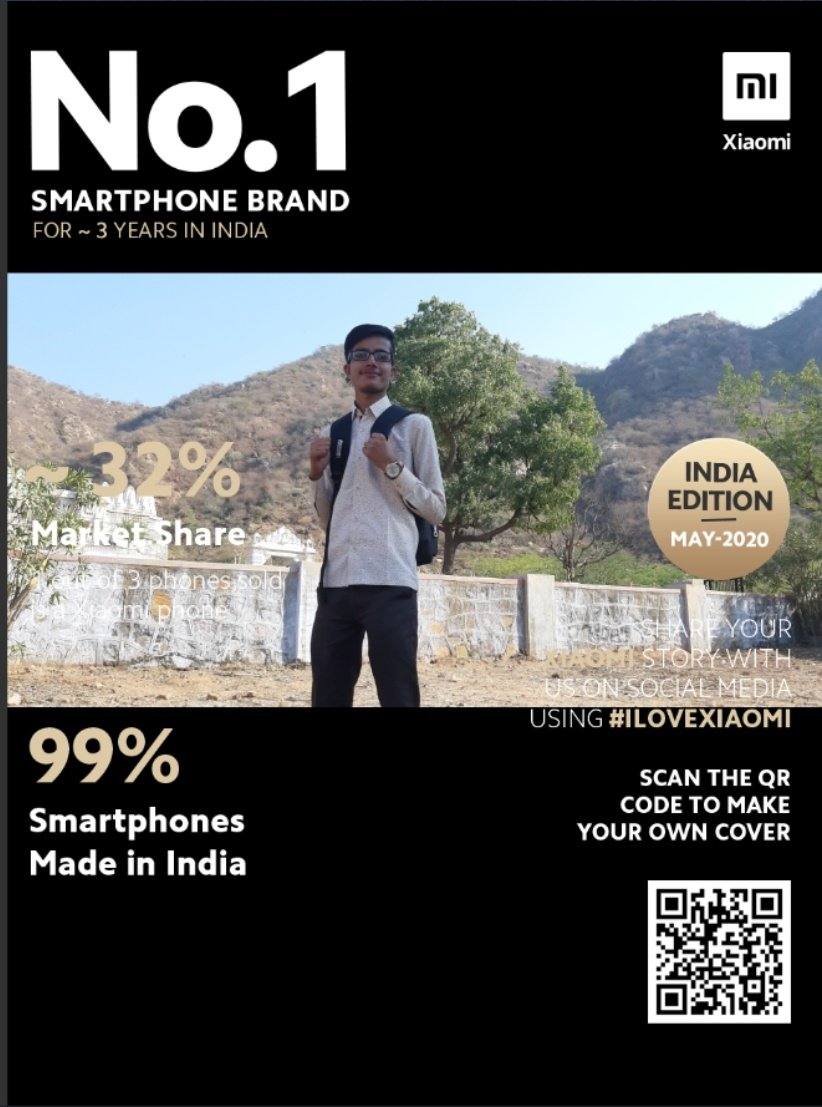 #ILoveXiaomi @xiaomiindia Join No.1 Smartphone Brand Magazine Cover Challenge Now! Share your magazine cover on Social Media to win cool Mi products worth over ₹1,00,000! https://in.event.mi.com/in/India-No1-Magazine…pic.twitter.com/BhwW5uvlOJ