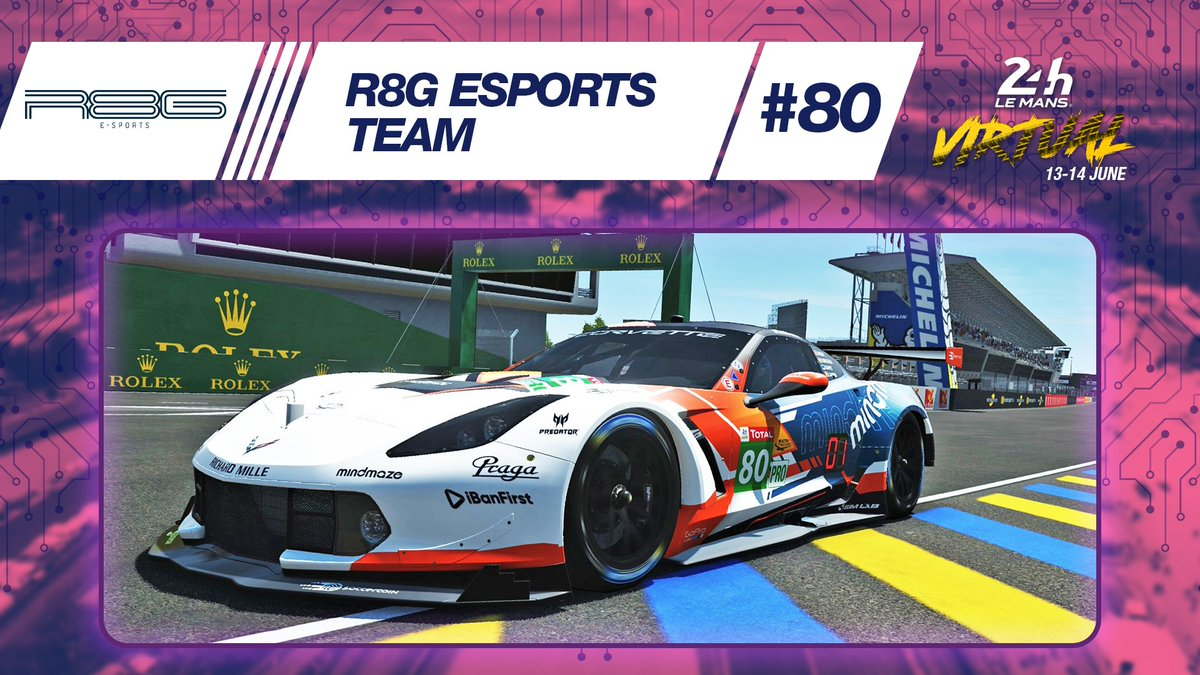 👉Check out the amazing livery on the #80 Corvette C7.R  fielded by Team @r8gesports in #LeMans24Virtual!  #LeMans24 https://t.co/1RtP4UnHYw