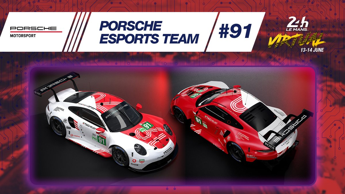 👉🏼Here are the liveries of the four @PorscheRaces  911 RSRs for #LeMans24Virtual! 😍 The design is a nod to the German marque's first outright win at the #LeMans24 50 years ago. 🤔 Which is your favourite? 1,2,3 or 4?  #WEC #Porsche #Raceathome @Porsche https://t.co/tdDJD1oFs1