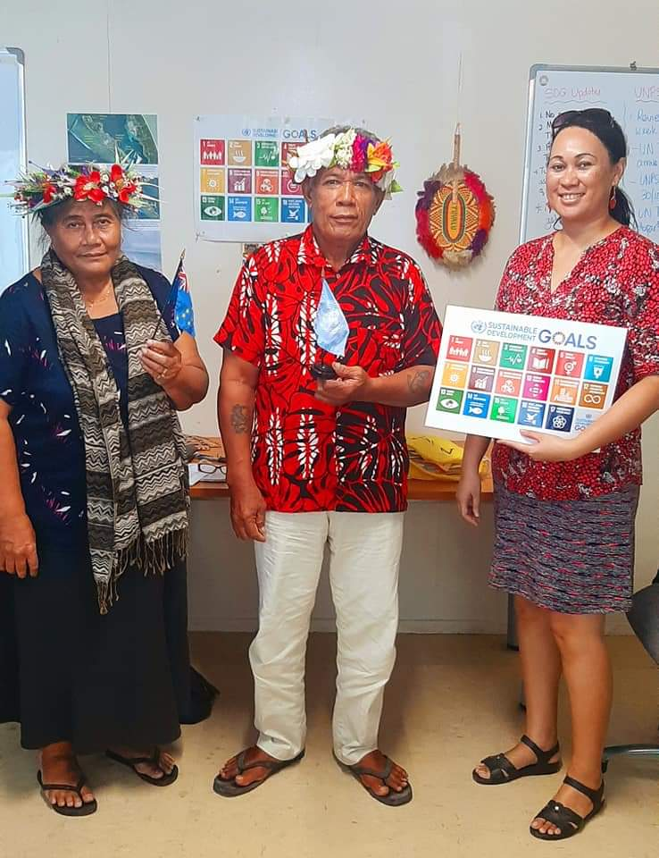 TCAP Communication Specialist engage with UN75 Dialogue video interview with the Vice President of the Tuvalu National Council of Women-Temukisa Hauma, the Community Island Leader of Nukulaelae- Luuni Tinilau. Interview focus on Climate Change challenges and gaps to address.