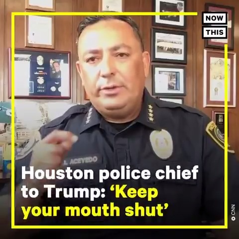 'If you don't have something constructive to say, keep your mouth shut' — Houston Police Chief Art Acevedo is slamming Trump for suggesting governors need to 'dominate' protesters