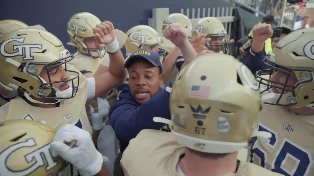 """""""In the huddle, our differences do not matter."""" The words and lessons of @coachbillcurry inspire us to be better, do more and love each other. #TOGETHERweSwarm #BlackLivesMatter #OneAtlanta"""