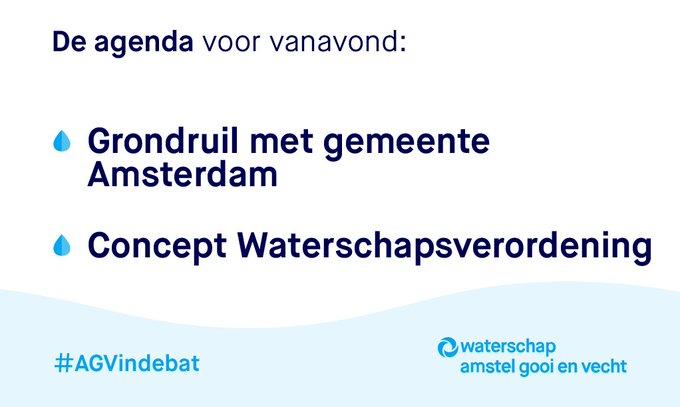 Kijk vanavond om 19:30 uur naar de digitale vergadering van @waterschapsagv. #AGVindebat  👇  👩💻 https://t.co/LEeQONZMFy 👨💻