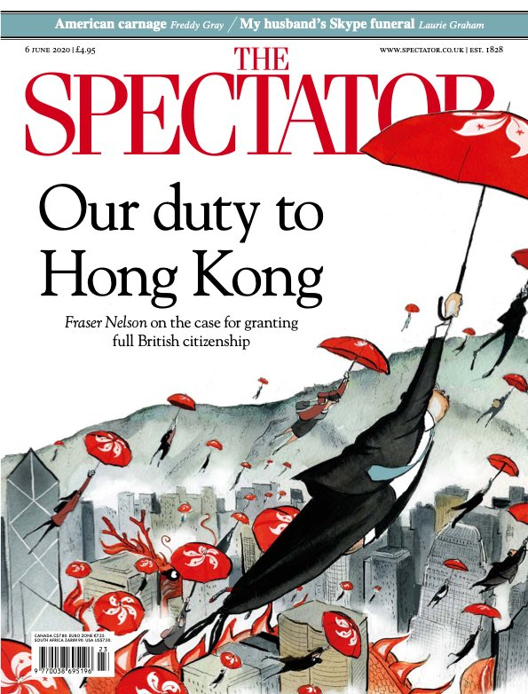 THE SPECTATOR: Our duty to Hong Kong #TomorrowsPapersToday