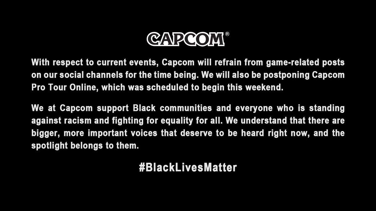 Replying to @CapcomUSA_: Black Lives Matter.