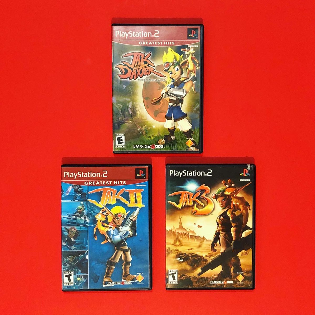 Jak and Daxter trilogy! Finally have the big 3. — -- #jak3 #jak2 #jakanddaxter #playstation2 #jakanddaxtertrilogy #cib #cibsunday #booklet #disc #naughtydog #naughtydoggames #videogame #gaming #retrogaming #shooter #platformer #gamecollecting #gamecollection #gamecollectorpic.twitter.com/EiBVnKZwjw