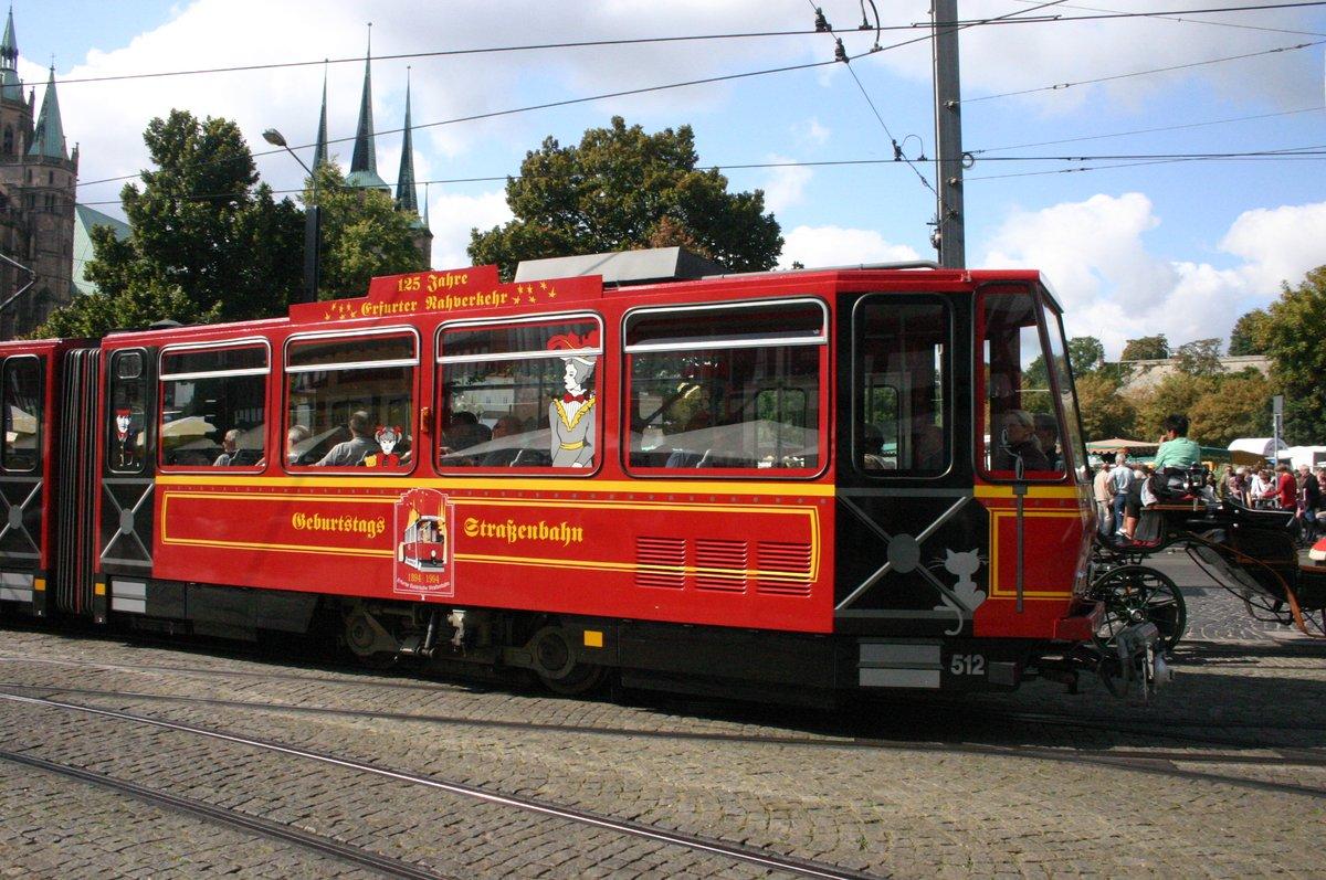 #9579 Geburtstags-Straßenbahn in Erfurt. 125 Jahre Erfurter Verkehrsbetriebe war das im Jahr 2009- heute sind wir bei 136. #random #picoftheday pic.twitter.com/QXIDJ0SIPT  by Arzt_und_Patient