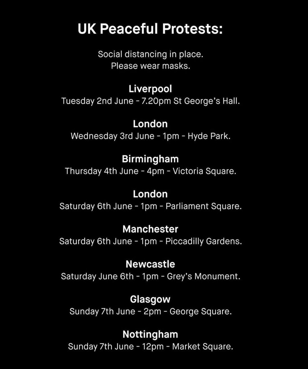 🔉 LIST OF PROTESTS AROUND THE UK THIS WEEK 🔉