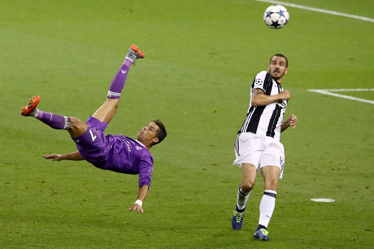 Practice makes perfect...   Cristiano Ronaldo in 2017 #UCL final in Cardiff<br>http://pic.twitter.com/fnqMPKHztU