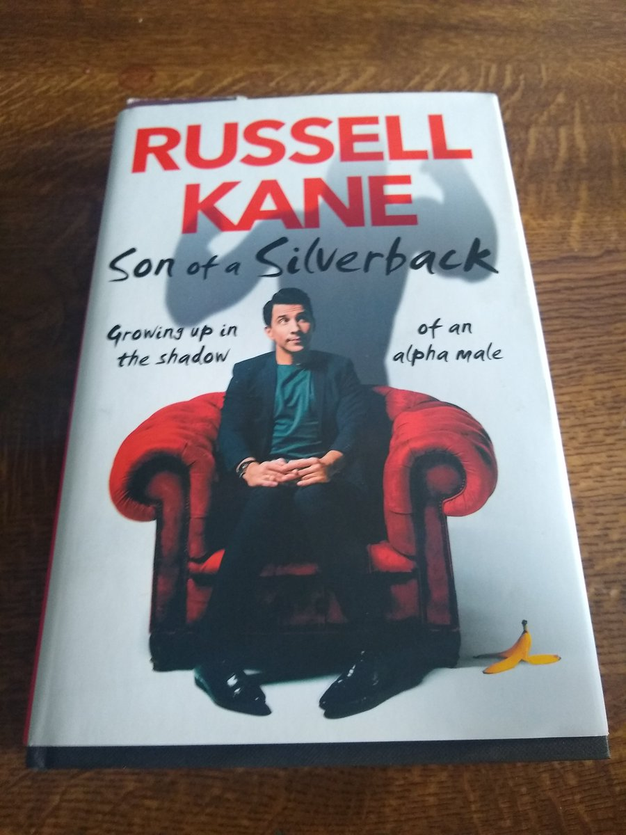 Currently reading @russell_kanes Son of a Silverback. A blackly comical tale of temper farts, Wolffys commandments and Attracted to Bastard disease.