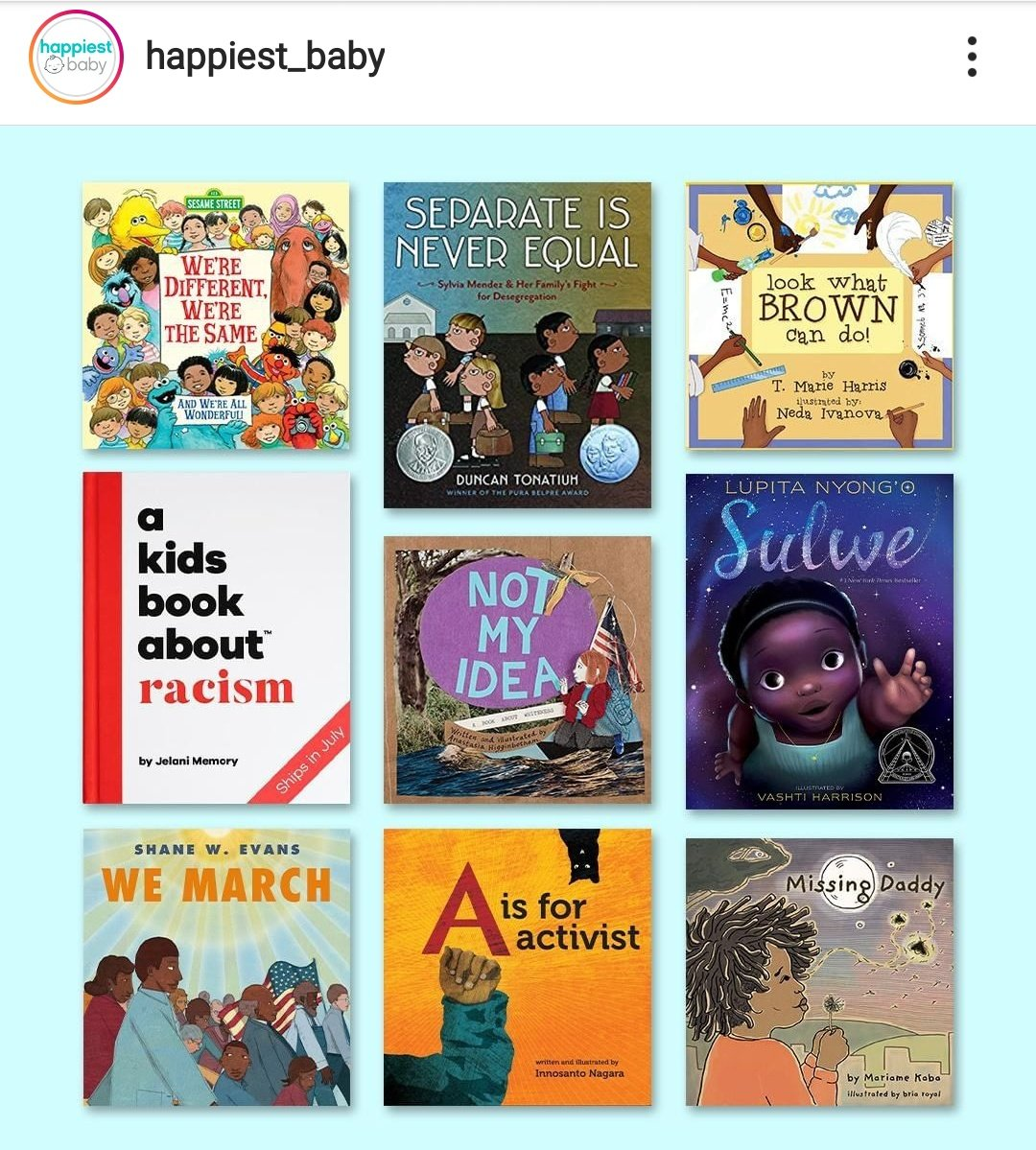 For all the parents in the mentions, saw this on Instagram, a great selection of books. Teach your kids from early to be anti racist xx pic.twitter.com/G1pt9Mg7y7