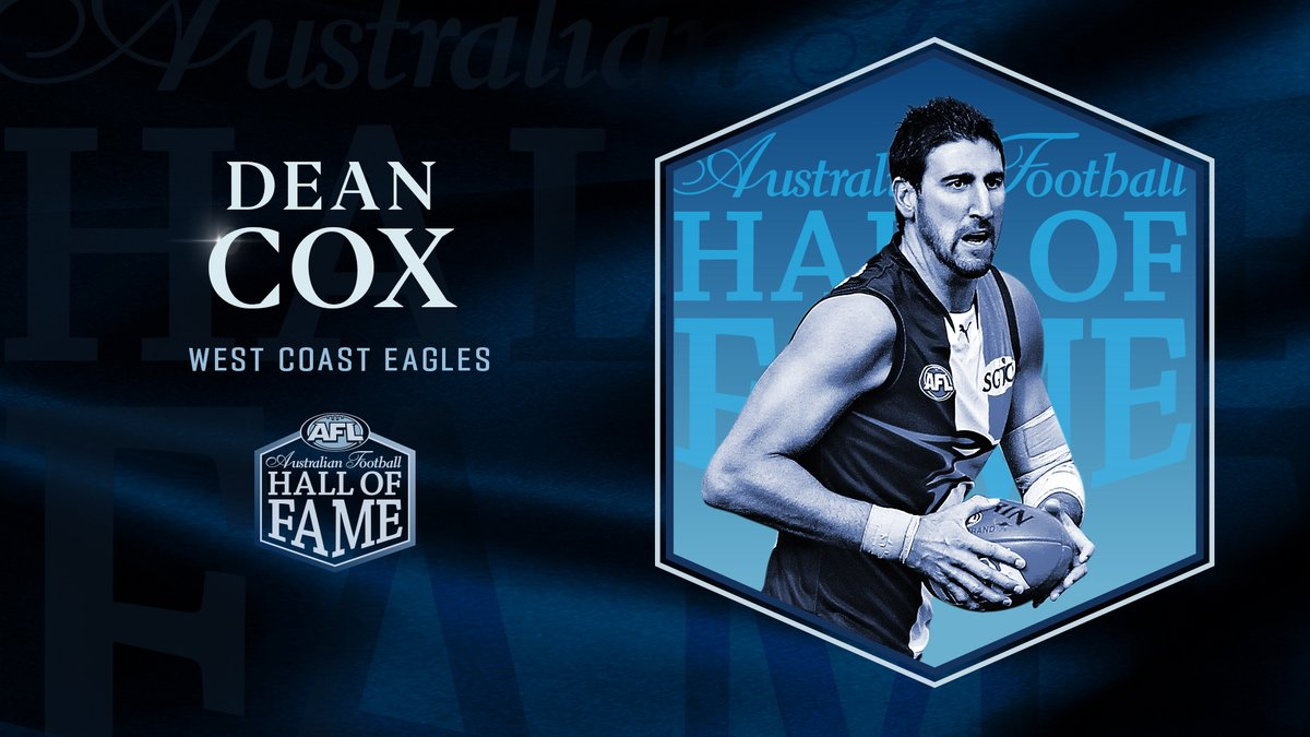 A giant of the game.  Congratulations to Dean Cox, inducted into the Australian Football #HallofFame 👏 https://t.co/pPdvw3ePKS