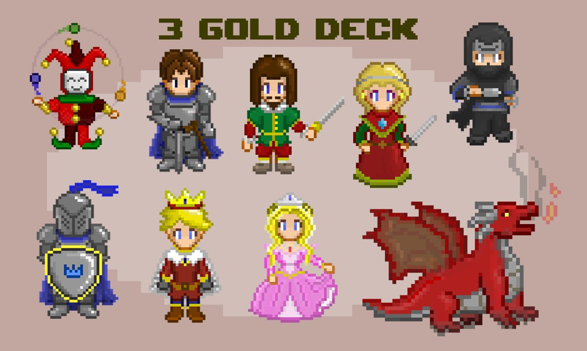 "The ""Court"" Deck: #pixelart #characterart #boardgamepic.twitter.com/iM8PCo3us8"