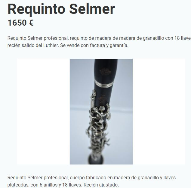 #Valencia #Barcelona #Madridverde #OTDirecto2J #clarinet @Info2manomusica @SEGUNDAMANO_Esp        Un muy buen instrumento 🎼🎼 quizá con muy buen precio, puede ser tu oportunidad❓❓ https://t.co/c04JtsPt6o