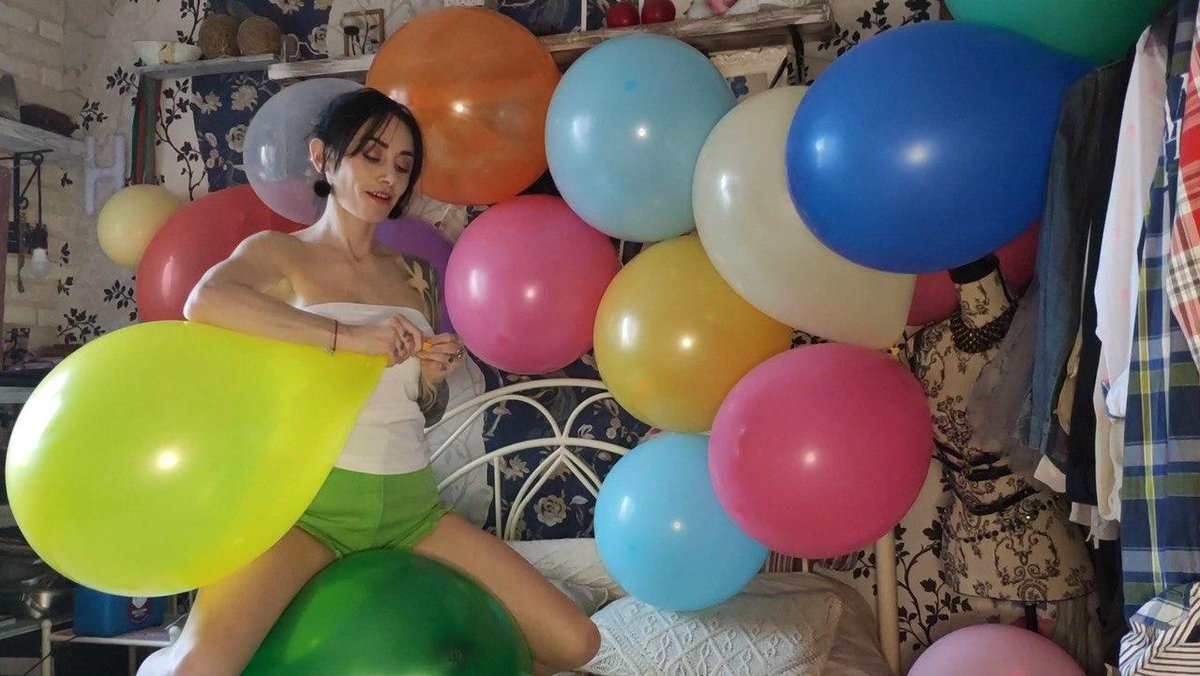 Teen Giving Smoking Popping Balloons