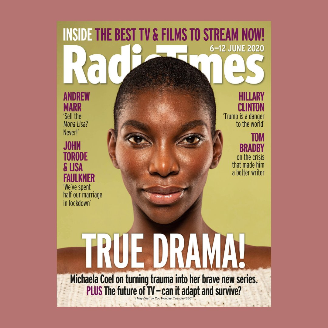 @MichaelaCoel is our Radio Times cover star this week. We caught up with Michaela on how she hopes others will find comfort in her sharing her experiences. See inside the magazine for the full interview and watch #IMayDestroyYou on BBC1 on Monday/ Tuesday at 10.45pm. https://t.co/Iqfw3QMd2i