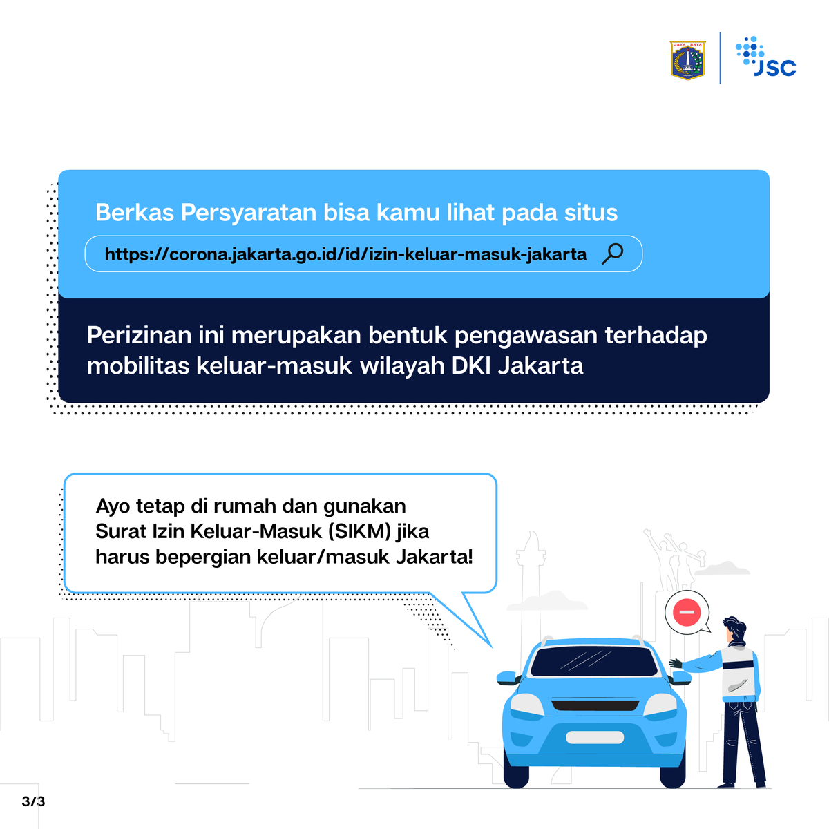 Jsclounge على تويتر Selama Masa Pandemi Covid 19 Warga Non Jabodetabek Yang Ingin Memasuki Wilayah Dki Jakarta Memerlukan Surat Izin Keluar Masuk Sikm Kamu Bisa Mengurus Dan Melihat Berkas Persyaratan Sikm Jakarta Melalui Situs Https T Co