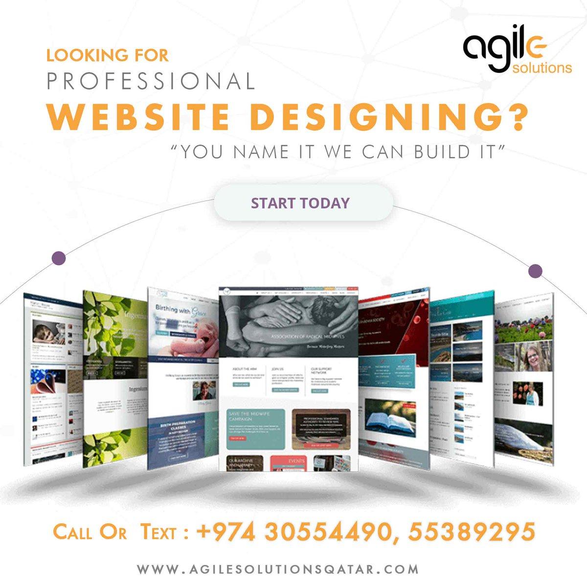 "Looking for #Professional_Website_Designing? ""You Name It We Can Build It"" Call:+974 55389295  https:// wa.me/+97430554490      https://www. agilesolutionsqatar.com     #ecommercewebsite #websitedesiging #agilesolutions #itcompanyqatar #webdesign #website #webdevelopment #qatar #doha #seo #digitalmarketing<br>http://pic.twitter.com/gSTMlvSLDi"