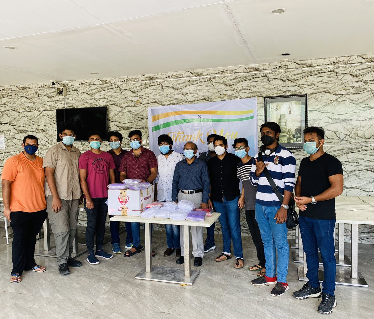 @indembmanila @PMOIndia @JaideepMazumda2 @transworldecare                                We are greatful and appreciate #Indianembassy that we recieved facemasks from #Indianembassy  thru #Transworld and our special thanks to **Dr.David K Pillai** #Davaomedicalschoolfoundationpic.twitter.com/s2jk2cCQP8