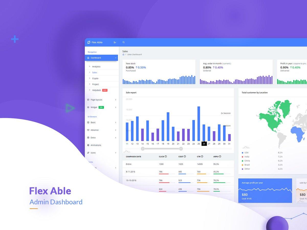 Flex Able Bootstrap 4 admin template is suitable for your stunning project.   Download Now   https:// 1.envato.market/OLMXQ       #webdesigners #admindashboards #themeforest #envatomarket #100daysofcode #webdev #coder #coding #programmers #webprogrammer #Webdesign #html5 #admindashboard<br>http://pic.twitter.com/sVP6HU32bt