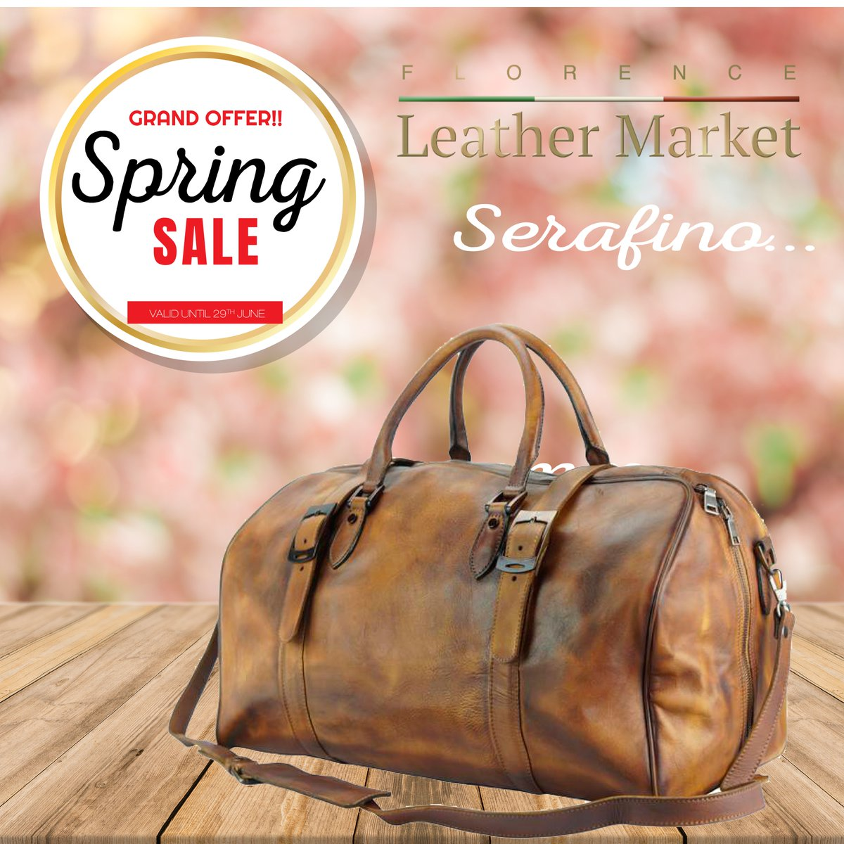 OFFER OF THE MONTH  Crafted in vintage leather, the Serafino is a very light and soft travel bag. It is surprisingly roomy and with a multifunctional interior. Thanks to an ergonomic design, a large zipper opening and multiple ways of carrying it. <br>http://pic.twitter.com/1YhRUB7VAR