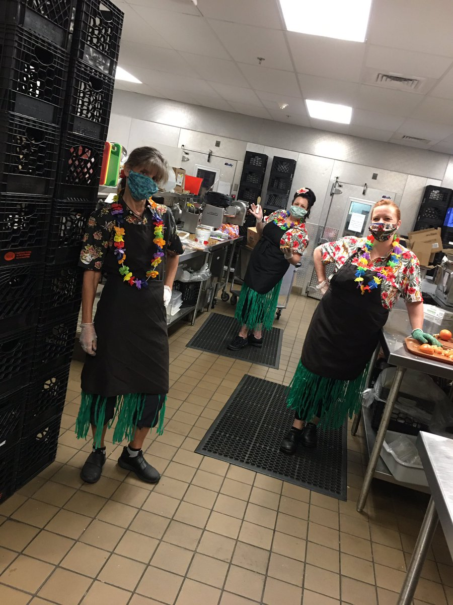 Aloha kakahiaka Norton Lancers. Today is Wednesday, June 3. The Lunch Ladies are dreaming of tropical beaches and fruity umbrella drinks . Hope to see you from 10-1. Aloha kau Ko! <br>http://pic.twitter.com/D99HdvqRU0
