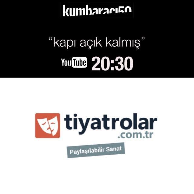Bu akşam 20.30'da 'Sosyal mesafeye has-bi-hal' bölümü var. Ev sahibi Erkan Kortan'ın konuğu @tiyatrolarcomtr 'nin kurucusu Murat Temel.  @ErkanKortan @muratdtemel   Altıdan Sonra Tiyatro YouTube linki aşağıda, abone olup takipte kalın.  https://youtu.be/Imo3GILheAI  #kapıaçıkkalmışpic.twitter.com/kJiIWYPeHA