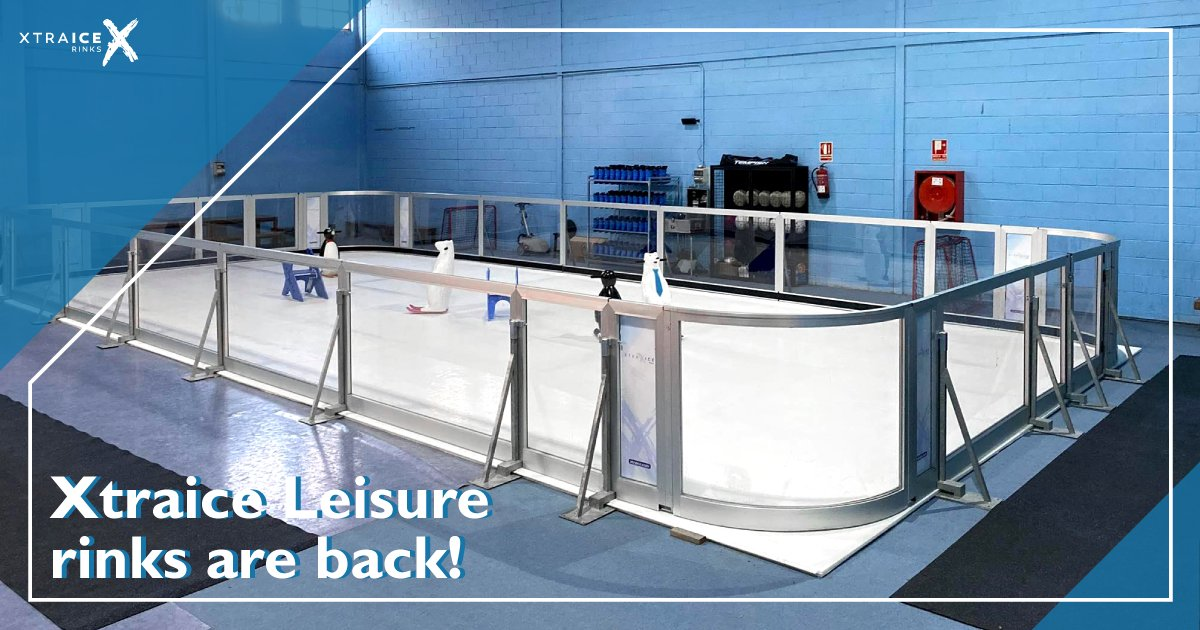 Xtraice Leisure rinks are back! In compliance with the safety recommendations, #leisure and entertainment time can be enjoyed again. This new installation by #Xtraice for the pleasure of skating . #syntheticice  #portableiceskatingrink #xtraicerinks #customrinks #iceskating pic.twitter.com/OKM0OfpJQx