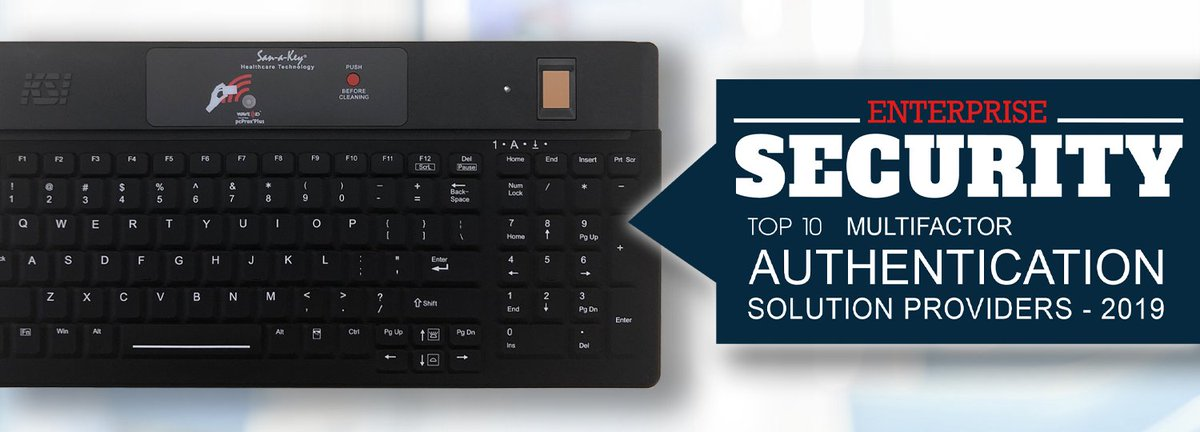 Backlit keys, detachable USB, optional @Imprivata Confirm ID, embedded cleaning button, @RFIDEAS proximity card reader, and @CrossmatchTech biometric reader.  All in a single keyboard, through one USB > https://bit.ly/2wTsRPlpic.twitter.com/Lgq1vUX3HK