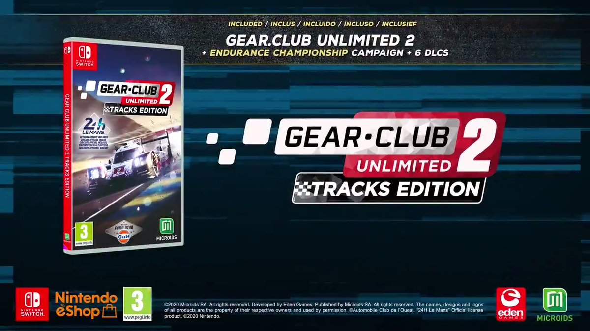 New gameplay, new tracks, new cars... Get the chance to run on the track of the 24h of Le Mans!  Gear Club Unlimited 2 Tracks Edition will be available in August exclusively on Nintendo Switch