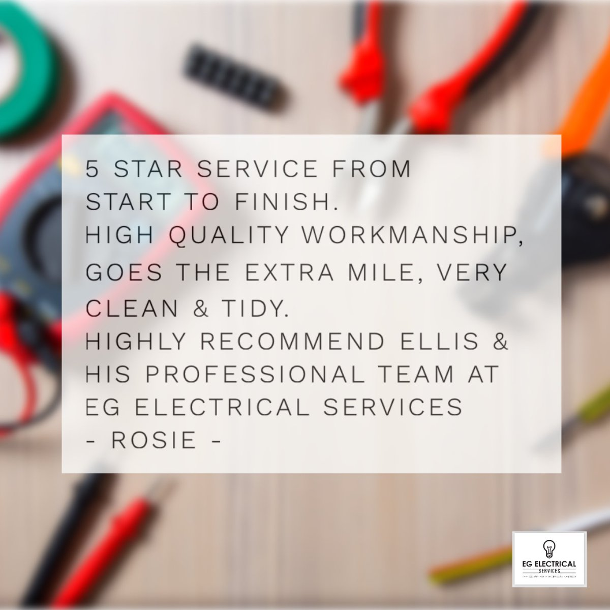 Thank you to Rosie for a #review we have recently received via our @YellBusiness page #localbusiness #business #construction #customerservice #customer #5star #work #localbusinessowners #niceic #electrician #sparky #sparkslife #cambridgeshire #egelectricalservices #lovemyjobpic.twitter.com/Wwot4tRHEp