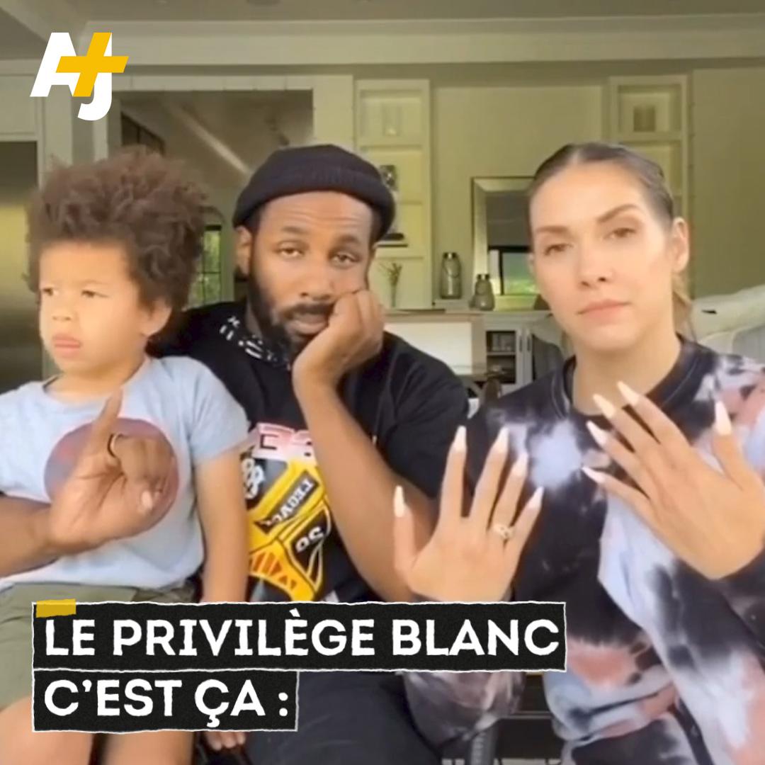 """Si vous ne savez toujours pas ce que signifie """"privilège blanc"""", ce couple mixte américain va vous l'expliquer ⬇️"""