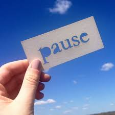 Take some time to pause and reflect! #image