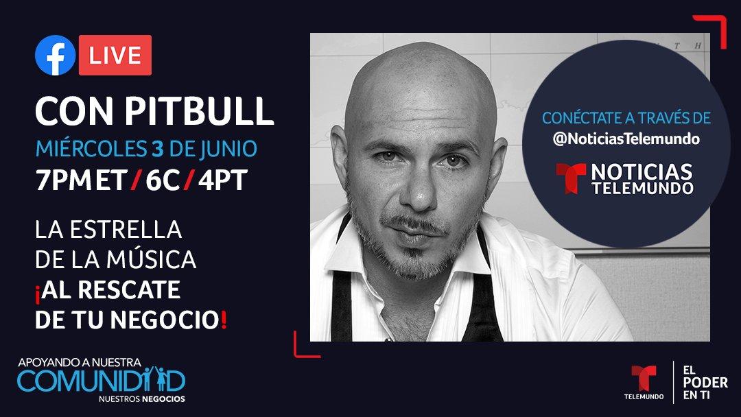 📣 Esta noche, el cantante @pitbull conversará con @miriamcarias sobre Hispanic Small Business Center, una iniciativa que implementará subsidios de emergencias de 10,000 dólares para emprendedores latinos. #ElPoderEnTi #NuestrosNegocios #JuntosImparables #NuestraComunidad