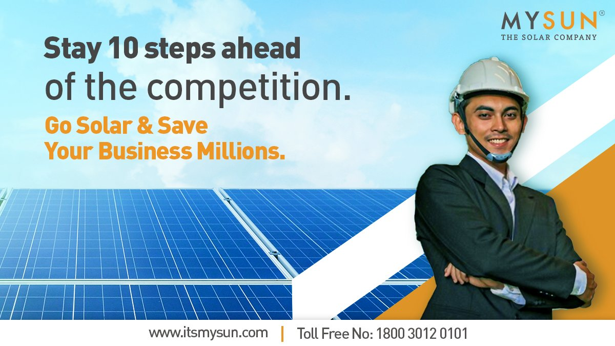 Choose one of India's leading rooftop solar company to help you maximise your business profits. Your journey towards solar awaits: https://bit.ly/3eLbylv . . #SolarPower #SolarEnergy #Solar #MYSUNpic.twitter.com/YENuBpZt1v