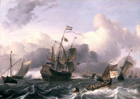 Art has always recorded nature`s many faces.A Dutch Marine painting depicting the ship called 'The Eendracht', captained by Dirck Hartog of the Dutch East India Company, oil on canvas by Ludolf Backhuysen,1670AD (Britannica) #art #nature #oilpainting #History #archives #culture pic.twitter.com/XoNH1ye3kW
