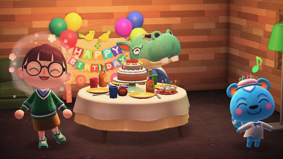 今日リッキー誕生会だったのー!!!撮影したかったーー(;_;) #どうぶつの森 #AnimalCrossing #ACNH #NintendoSwitch