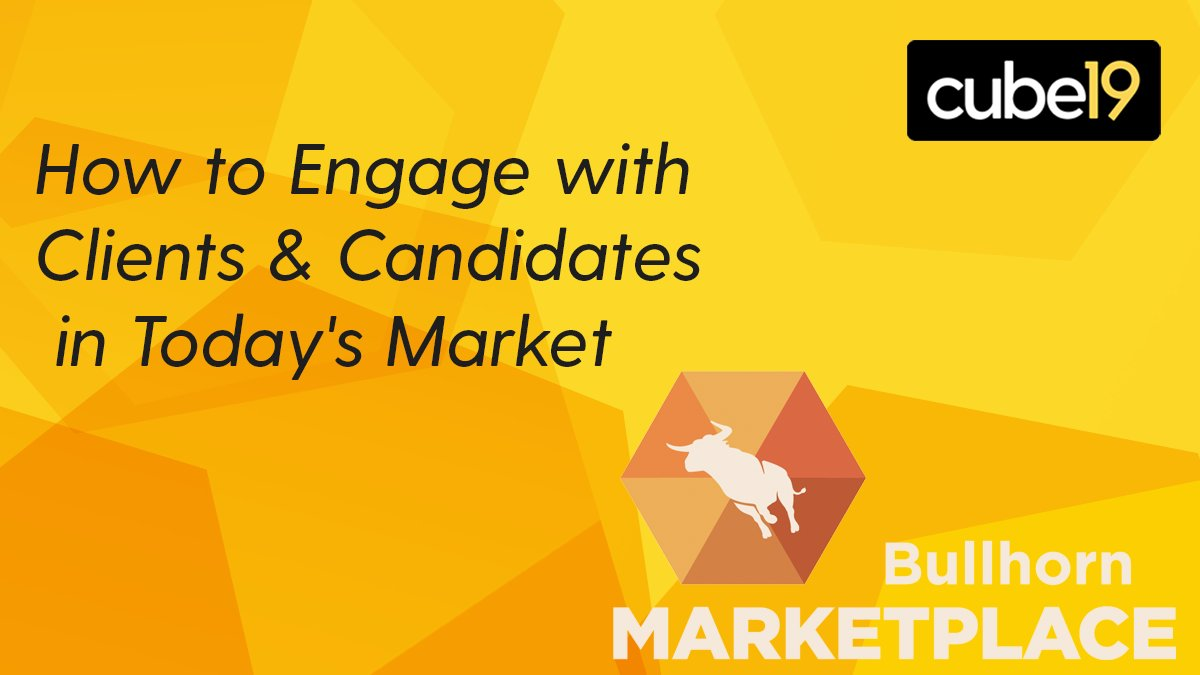 cube19's Global Sales Director, Joe McGuire, shares insights on how your business can use data to improve it's client and candidate engagement in the latest @Bullhorn Marketplace Webinar.  Watch the clip here here:  https:// bit.ly/2BugL2R    <br>http://pic.twitter.com/lrs5g5rTG3