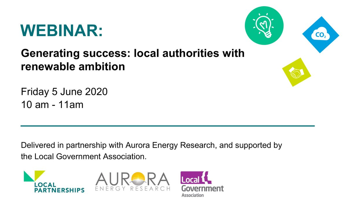 RT @LGAcomms We are supporting the  @LP_localgov  and @AuroraER_Oxford  webinar which will be helping councils explore how to be confident in making data-driven investment in #RenewableEnergy projects.  Book your place ➡️  https://t.co/6jnWoobmFs